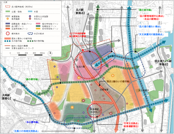 品川駅南地域全体の市街地将来像